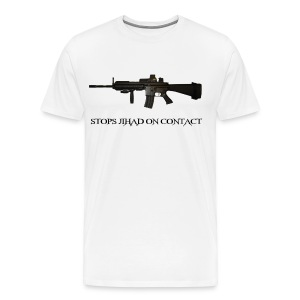 Stops Jihad On Contact - Men's Premium T-Shirt