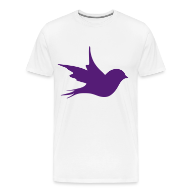a little bird as a silhouette  T-Shirts