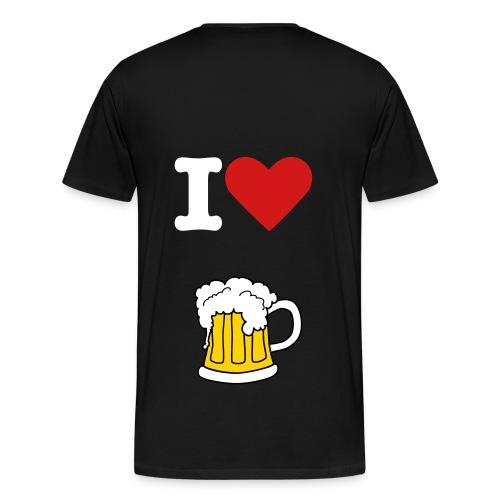 I love BEER - Men's Premium T-Shirt