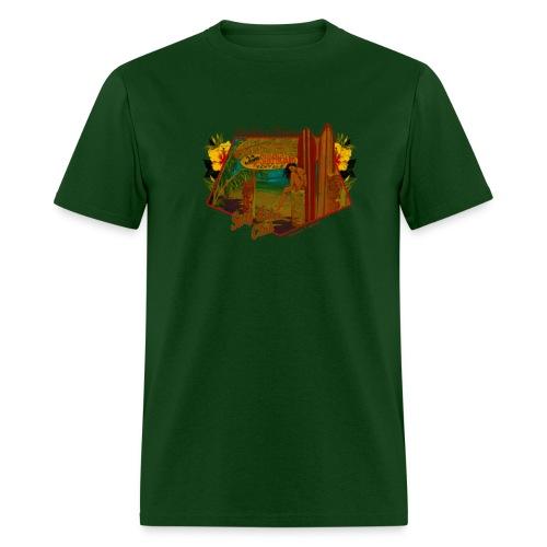Classic Hawaiian Hand Made T-shirt Surfing Design - Men's T-Shirt