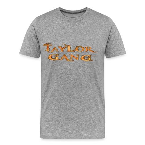 Grey Taylor Gang Flame T-Shirt - Men's Premium T-Shirt
