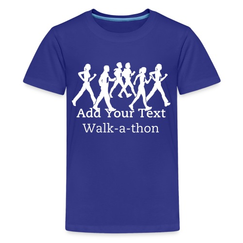 Custom Text Walk-a-thon t shirts - Kids' Premium T-Shirt