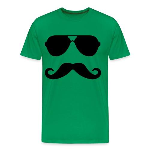 Large Moustache Man - Men's Premium T-Shirt