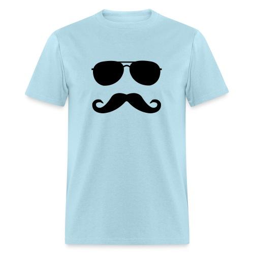 Mustache glasses - Men's T-Shirt