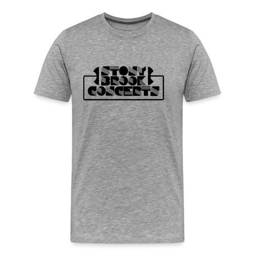 3x/4x Stony Brook Concerts T-Shirt (White Letters w/o Years) - Men's Premium T-Shirt