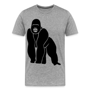 animal t-shirt gorilla ape monkey king kong godzilla silver back orang utan T-Shirts - Men's Premium T-Shirt