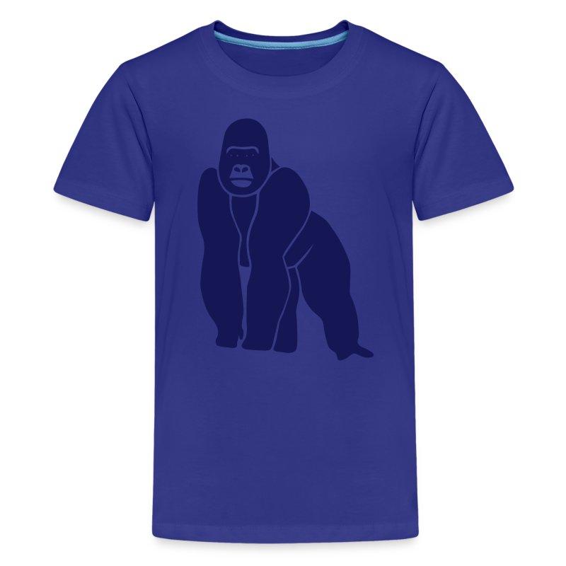animal t-shirt gorilla ape monkey king kong godzilla silver back orang utan T-Shirts - Kids' Premium T-Shirt