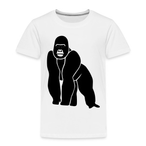 animal t-shirt gorilla ape monkey king kong godzilla silver back orang utan T-Shirts - Toddler Premium T-Shirt