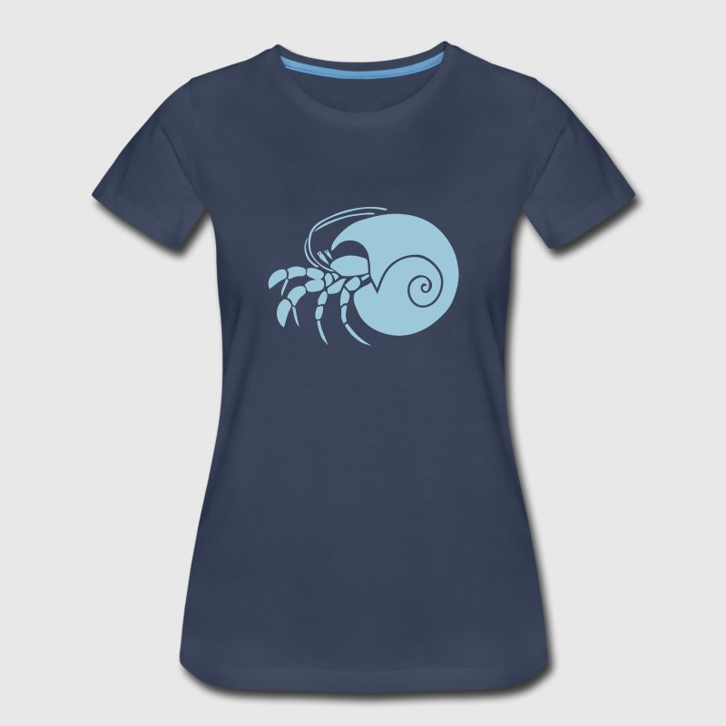 animal t-shirt hermit crab crayfish cancer shrimp prawn lobster ocean snail conch seafood sea food shellfish Plus Size - Women's Premium T-Shirt