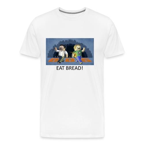 EAT BREAD! - White Heavy Weight - Men's Premium T-Shirt