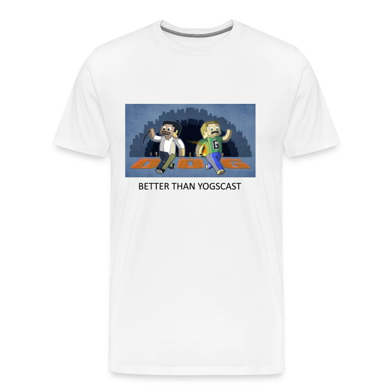BETTER THAN YOGSCAST! - White Heavy Weight - Men's Premium T-Shirt