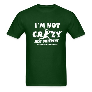 'I'm Not Crazy' Lacrosse Goalie Men's Heavyweight T-Shirt - Men's T-Shirt