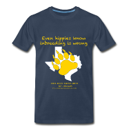T-Shirts ~ Men's Premium T-Shirt ~ Even hippies know inbreeding is wrong - Men's