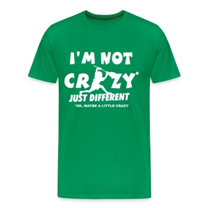 'I'm Not Crazy' Lacrosse Goalie Men's 3XL and 4XL T-Shirt - Men's Premium T-Shirt