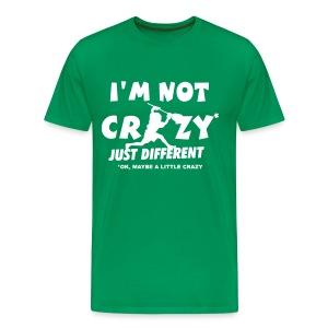'I'm Not Crazy' Lacrosse Goalie Men's 3XL and 4XL T-Shirt - Men's Premium T-Shirt