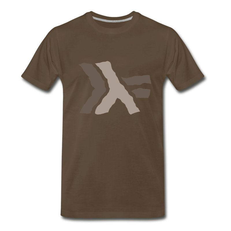 Haskell logo painted: nautral brown - Men's Premium T-Shirt