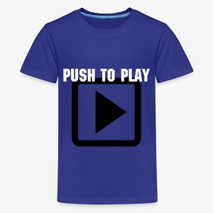 SMASH Push To Play Children's Tee Shirt MILD WARNING - Kids' Premium T-Shirt
