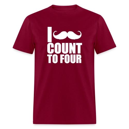Maroon Gildan Mustache - Men's T-Shirt