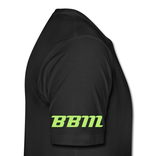 BBM T-shirt With Neon Green Letters - Men's Premium T-Shirt