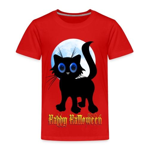Happy Halloween Black Kitten - Toddler Premium T-Shirt