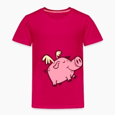 Cute Flying Pig Toddler Shirts