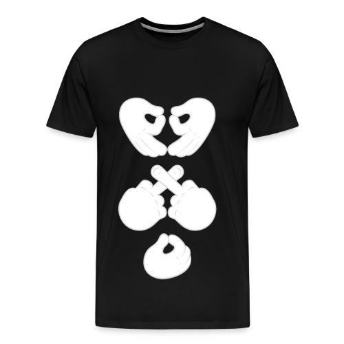 Octobers Very Own ✗♥O Hand Mens Tshirt - Men's Premium T-Shirt