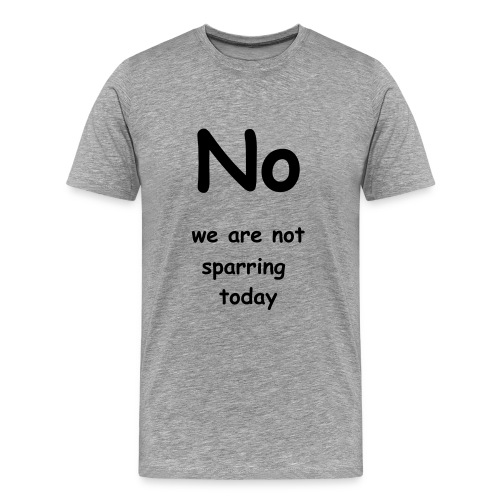 No we are not sparring - Men's Premium T-Shirt