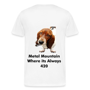 Metal Mountain Where its Always 420 - Men's Premium T-Shirt