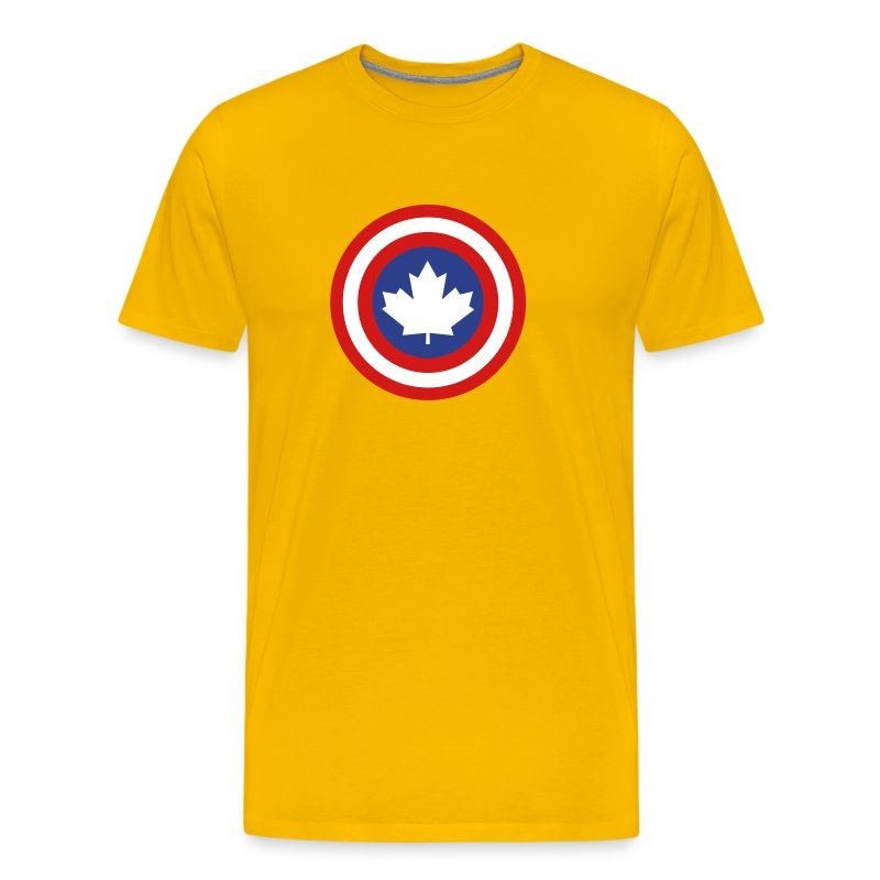 Captain Canada Shield 3 Colour - Men's Premium T-Shirt