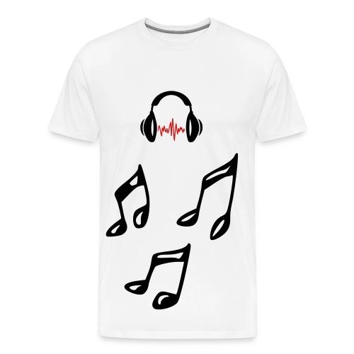 Musical Notes - Men's Premium T-Shirt