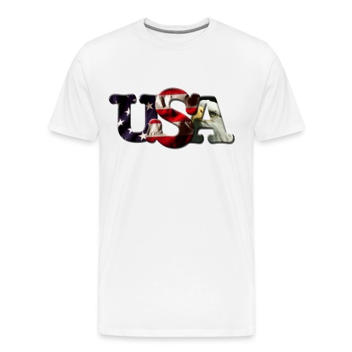 USA White - Men's Premium T-Shirt