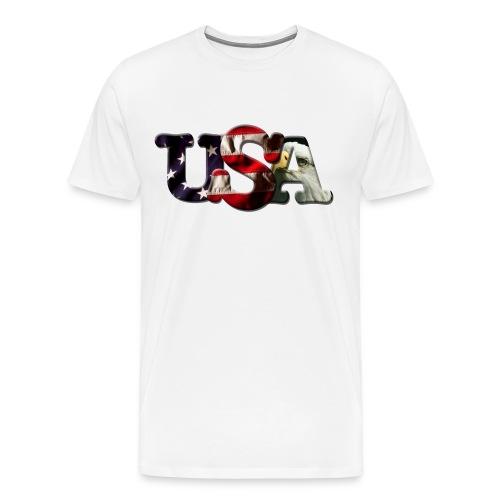 USA White - Men's Premium T-Shirt