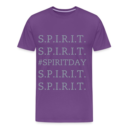 Mens - #SPIRITDAY - Metalic Silver - Men's Premium T-Shirt
