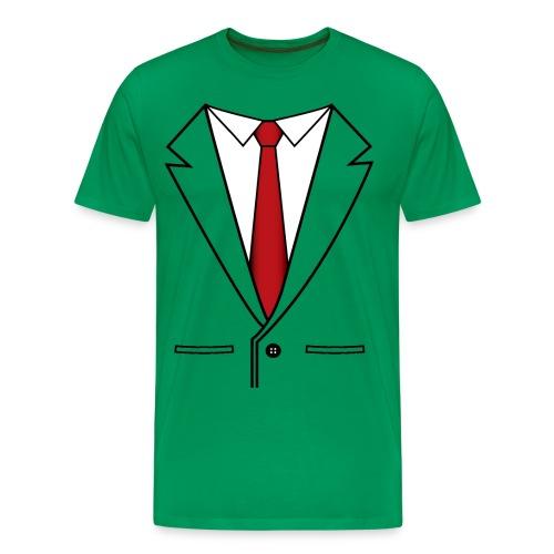 BusinessShirtGreen - Men's Premium T-Shirt