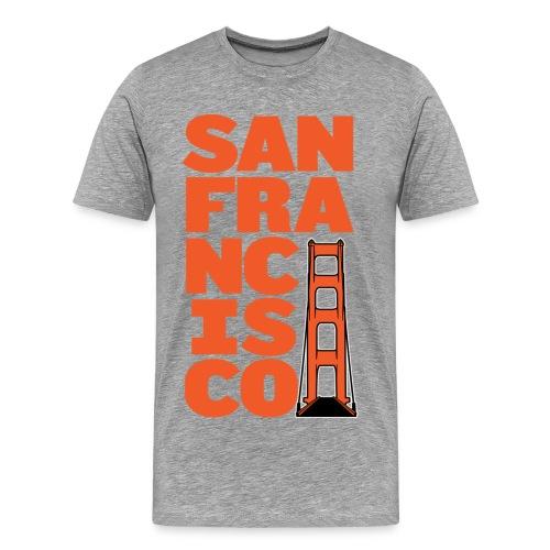 SF Men's Gray - Men's Premium T-Shirt