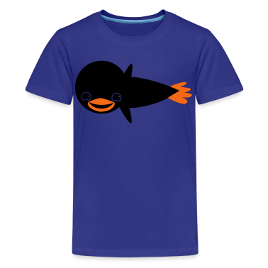 flying penguin cute Kids' Shirts