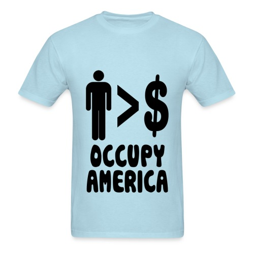 People over profits - Men's T-Shirt