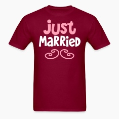 JUST MARRIED great shirt for newlyweds T-Shirts