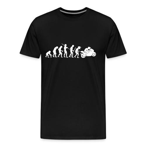 Santa is motorbiker - Men's Premium T-Shirt