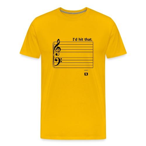 I'd Hit That (bass) - Men's Premium T-Shirt
