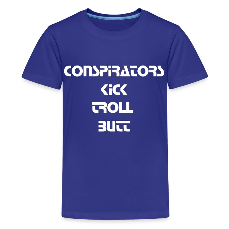 Conspirators Kick Troll Butt - White Text - Kids - Kids' Premium T-Shirt