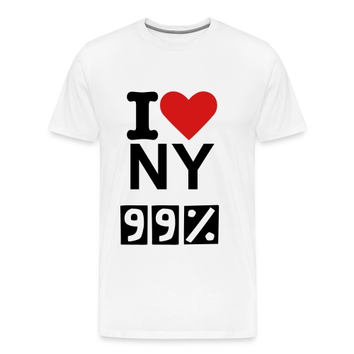 I LOVE NY 99 PERCENT / WHITE TEE - Men's Premium T-Shirt