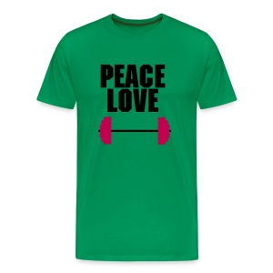 peace love barbell - Men's Premium T-Shirt