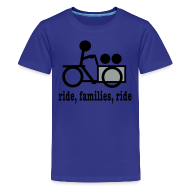 Kids' Shirts ~ Kids' Premium T-Shirt ~ Youth Cargo Trike Ride Families