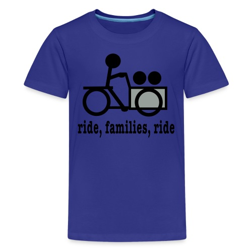 Youth Cargo Trike Ride Families  - Kids' Premium T-Shirt