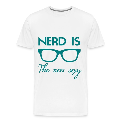 Nerd is the new sexy tee - Men's Premium T-Shirt