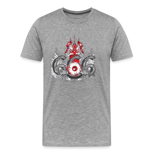 Evil eye 666 design tshirt - Men's Premium T-Shirt