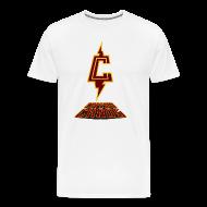 T-Shirts ~ Men's Premium T-Shirt ~ Piketoon Captain Chaos Burgundy Logo