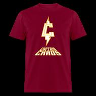 T-Shirts ~ Men's T-Shirt ~ Piketoon Captain Chaos Gold Logo