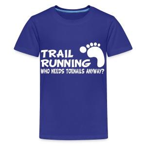 Trail Running Toenails Children's T-Shirt - Kids' Premium T-Shirt